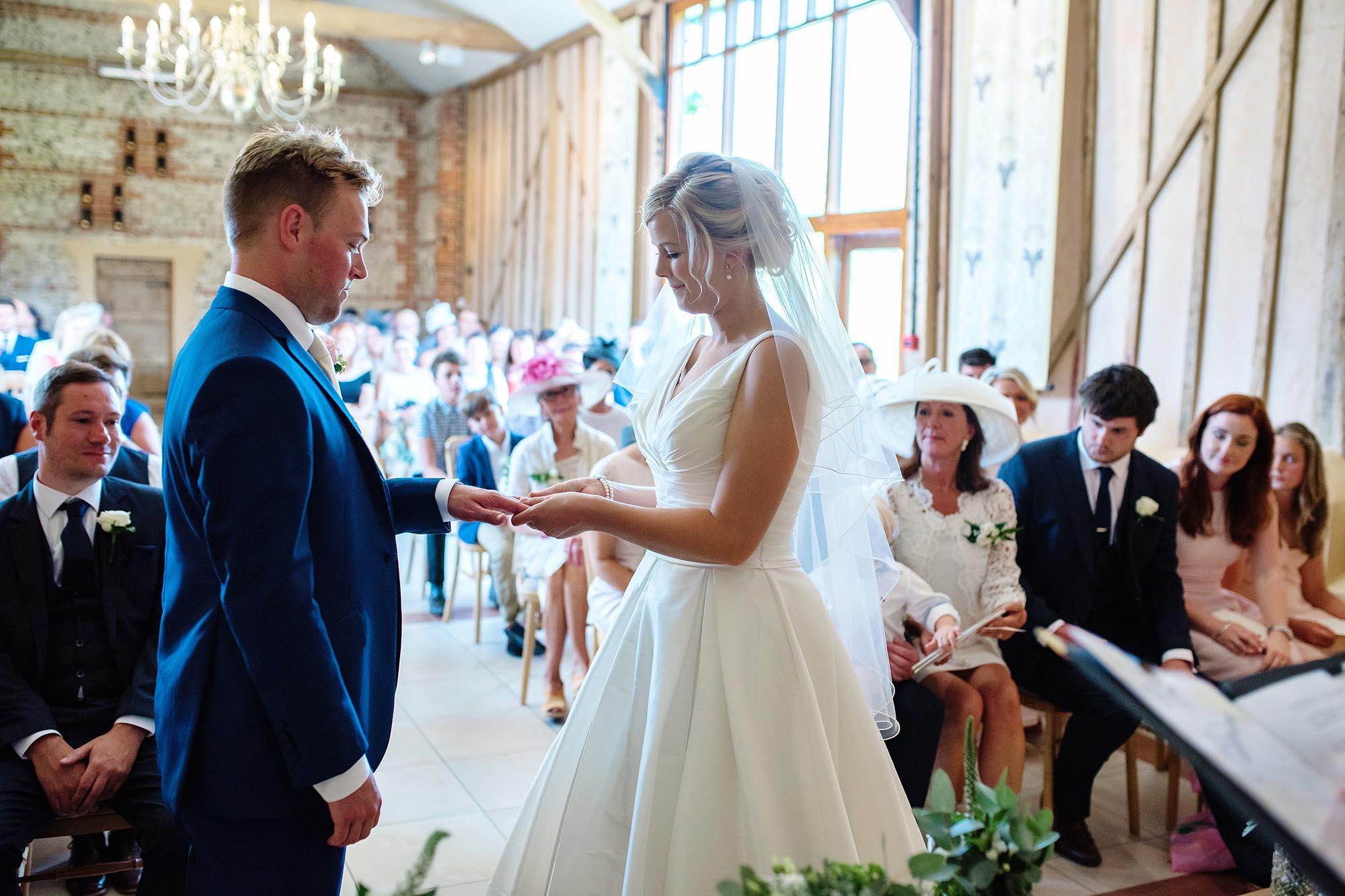 A rustic Summer wedding at Upwaltham Barns