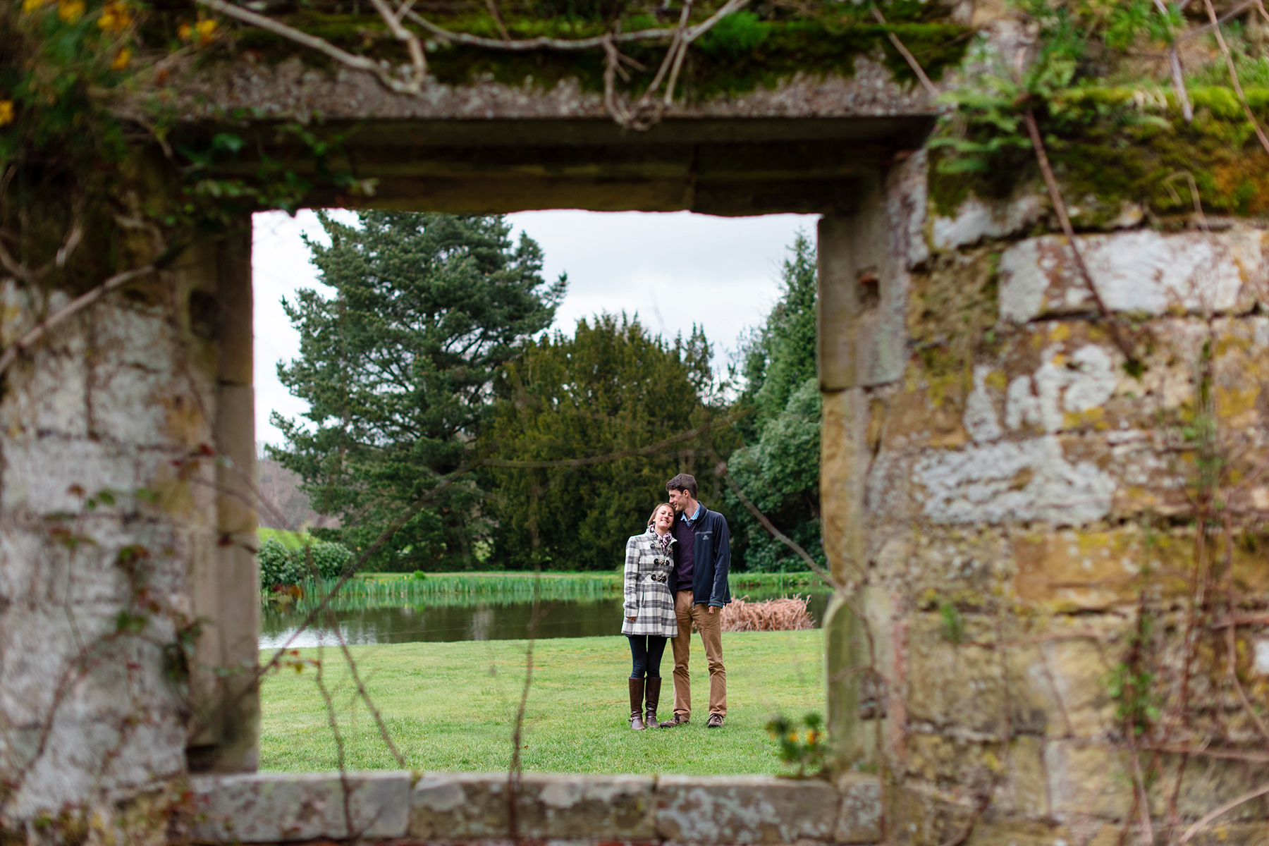 Engagement shoot at Scotney Castle