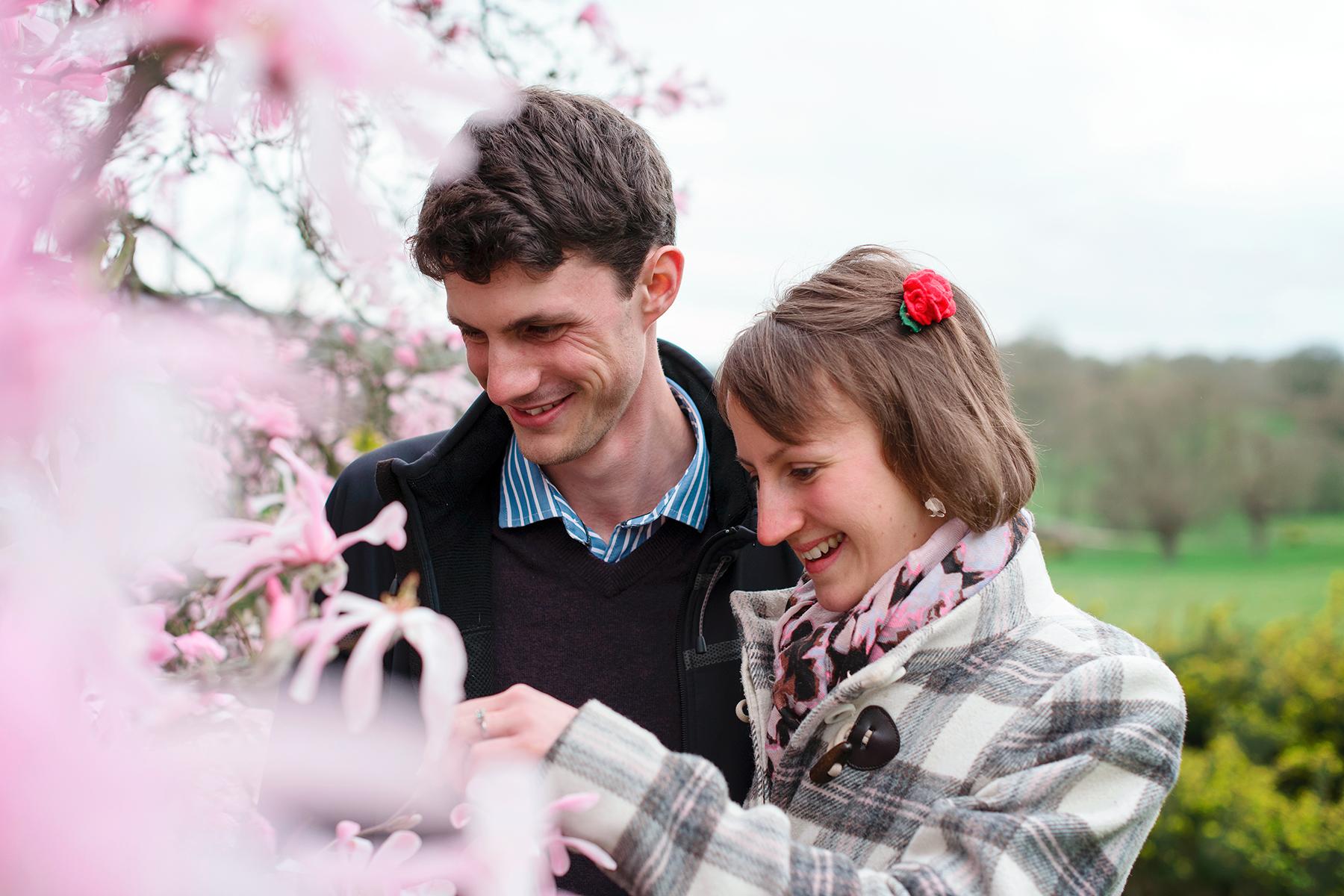 Engagement shoot at Scotney Castle