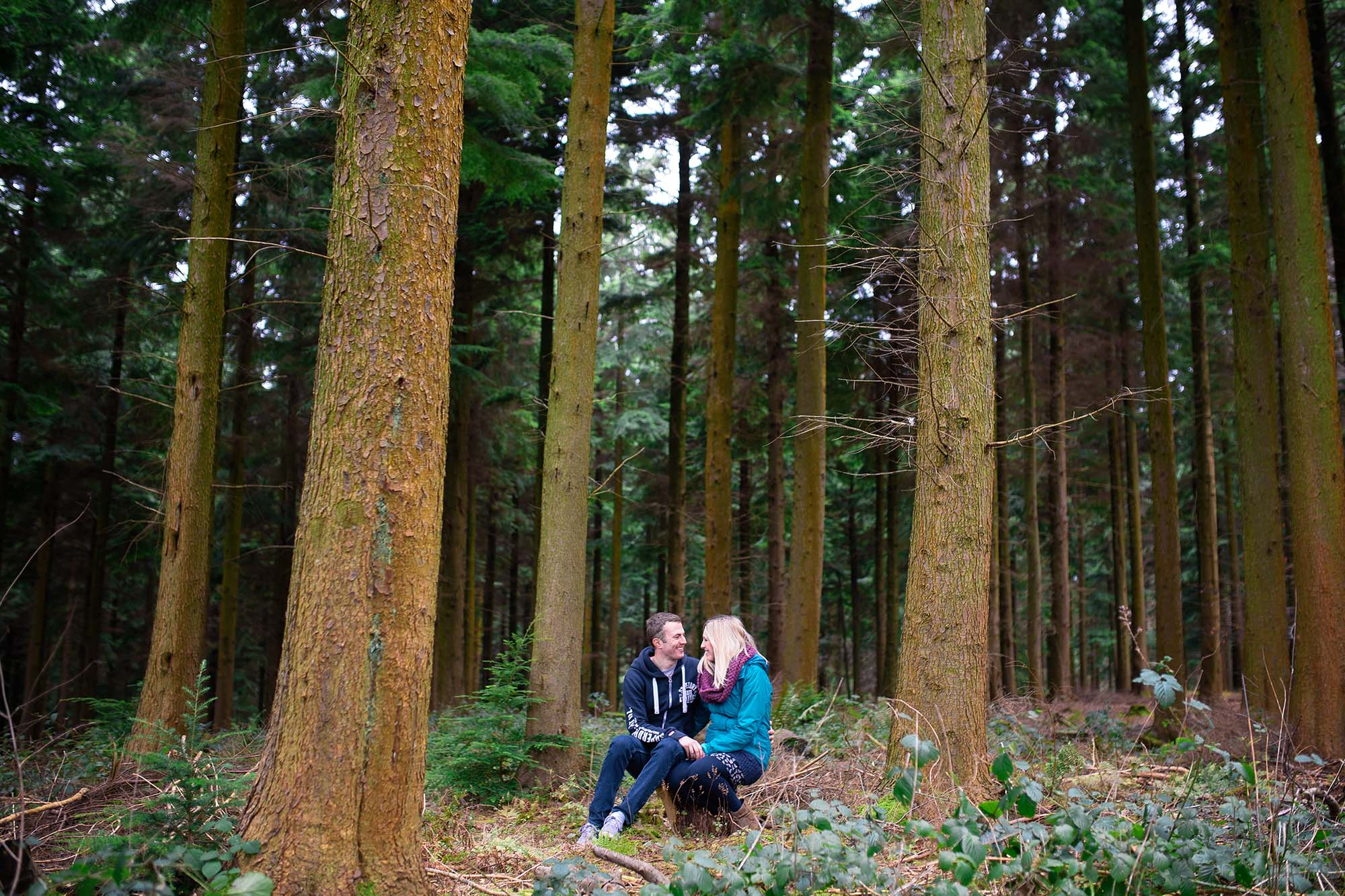 A Woodland Spring Engagement Shoot
