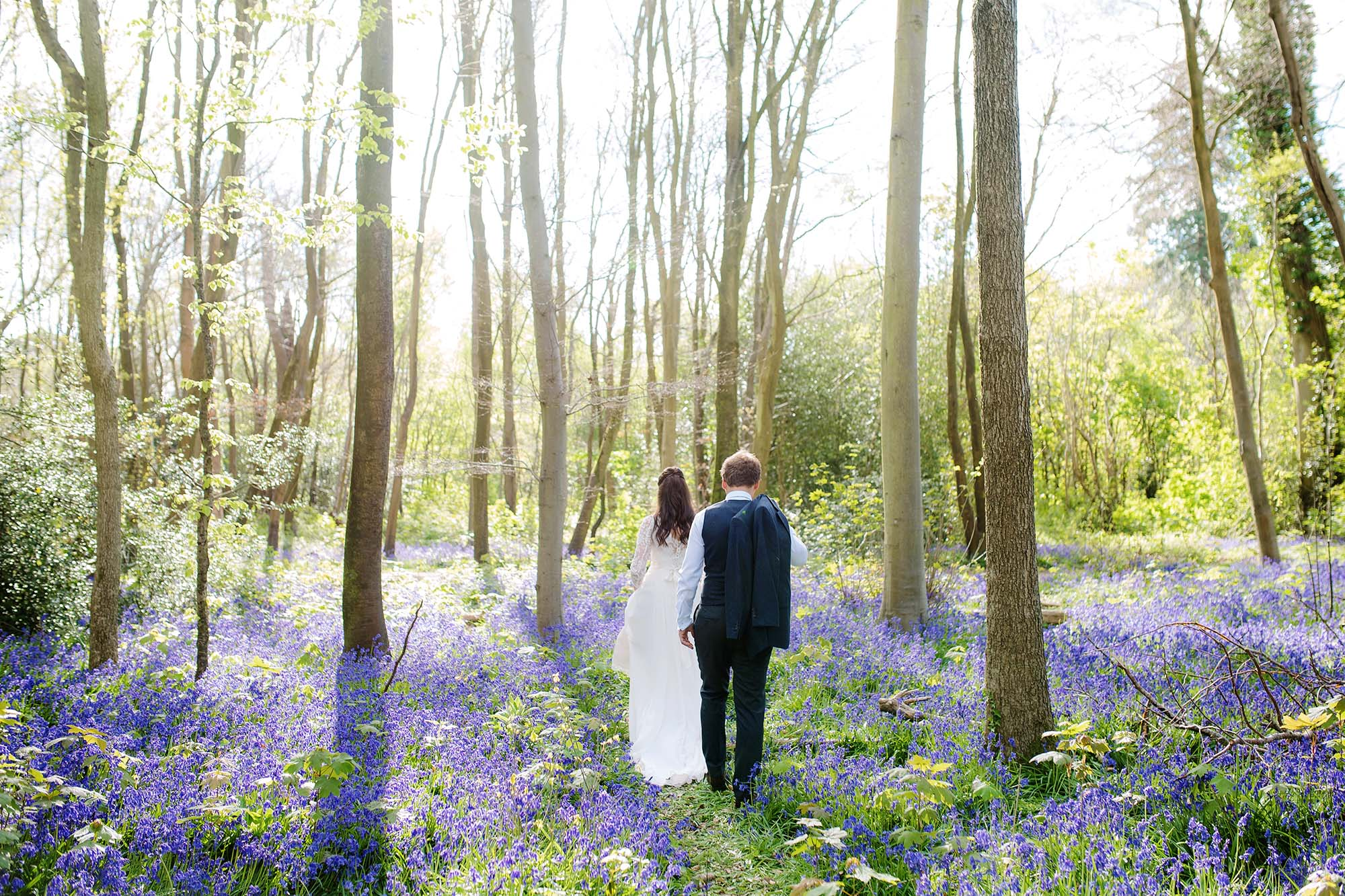 Lucy and Elliot's post wedding Bluebell shoot